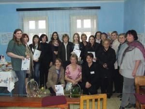 Súťažiace, členky posudzovacej komisie a predstaviteľky spolkov žien