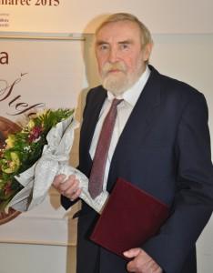Samuel Boldocký ako držiteľ Ceny Ondreja Štefanka 2015 (foto: J. Čiep)