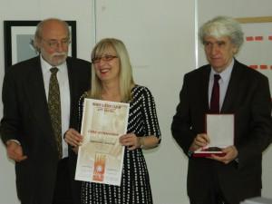 Z udelenia najnovšej Ceny Savu Šumanovića: Dragan Srećkov, Vesna Latinović a Čedomir Vasić