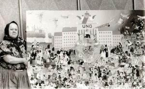 Zuzana Chalupová v roku 1974 namaľovala pre UNICEF obraz na plátne veľkého formátu Deti Spojených národov