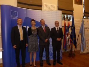 Bojan Pajtić, Mirjana Gelová, Michael Davenport a Miloš Vučević sa prihovorili v Galérii Matice srbskej