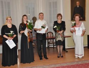 Poďakovanie vedúcim zborov a sólistom