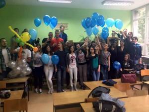 Najúspešnejšie oddelenie 50. generácie maturantov, slovenská trieda s triednou profesorkou Jarmilou Jonášovou