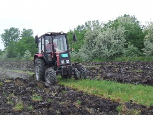 Voda zničila aj tieto 4 jutrá ďateliny, takže ju Darko Poliak preoral, aby po daždi mohol zasiať kukuricu na siláž