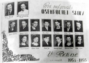 Prvá generácia osemročnej školy 1954/55