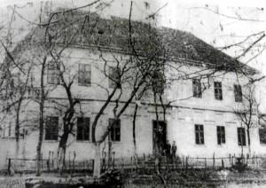 Stará škola vybudovaná roku 1846 a zbúraná v roku 1963