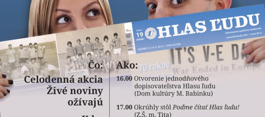 NVU Hlas ľudu v Padine organizuje podujatie Živé noviny ožívajú
