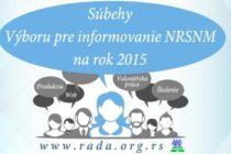 Súbehy Výboru pre informovanie NRSNM