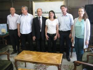 Piati podpisovatelia deklarácie s predstaviteľkou nadácie EuroNatur (v strede)