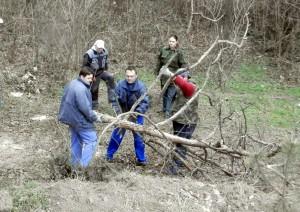 Vždy je čo robiť. Ekopovci vo veľkej akcii upratovania suchých stromov v uplynulom roku.