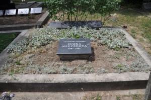 Nová kamenná doska na hrobke prvej slovenskej akademickej maliarky Zuzky Medveďovej