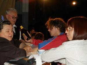 Padinskí divadelníci sa zaskveli aj na májových Živých novinách: (zľava) Anna Širková, Ján Kolárik, Vladimír Šimák a Snežana Garafiátová