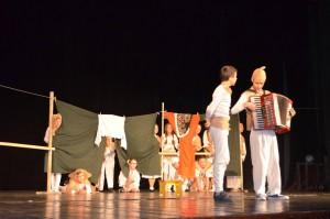 Sergej Šimo (vľavo) s Vladimírom Zimom v predstavení Soľ nad zlato