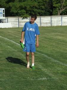 Členok čelarevského futbalistu Igora Fábryho nevydržal do konca zápasu