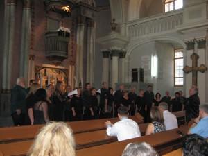 Komorný zbor zMartina počas vystúpenia vpetrovskom kostole (Foto: V. Hudec)