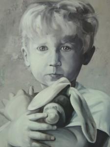 Chlapca s hračkou zobrazil Davor Kolarski