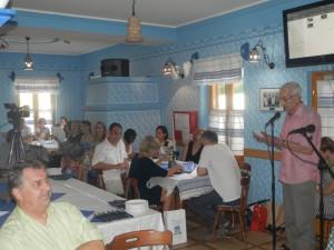 Ján Struhár hovoril oprvých dvoch desaťročiach redakcie programov vslovenskej reči TV Vojvodiny (Foto: J. Bartoš)