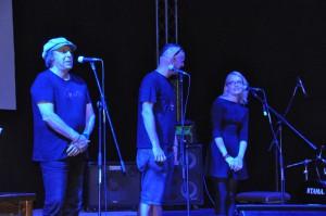 Otvorenie festivalu (zľava): Boris Hybner, Peter S. Butko a prekladateľka Maja Pucovská
