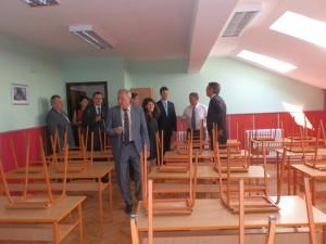 Počas obchôdzky rekonštruovaných častí školskej budovy