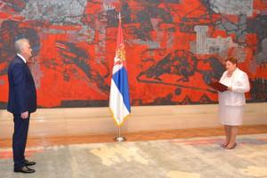 Nová veľvyslankyňa SR v Srbsku Dagmar Repčeková počas prejavu