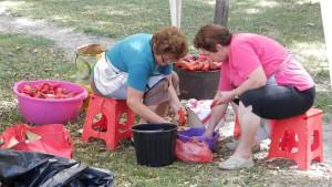 Papriku bolo treba najprv umyť a pripraviť