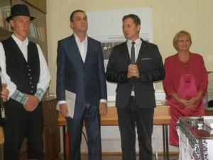 Otvorenie výstavy:(zľava) Daniel Molnár, Milivoj Kovačević, Igor Feldy a Katarína Verešová