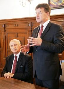 Miroslav Lajčák a Ján Varšo (sprava) Foto: www.uszz.sk
