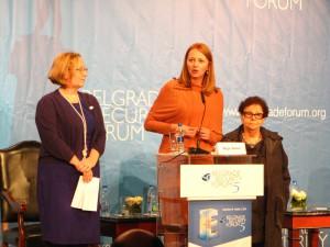 Z príhovorov troch organizátoriek: Sonja Stojanovićová-Gajićová, Maja Bobićová a Sonja Lightová