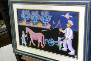 Z výstavy obrazov Jána Kňazovica