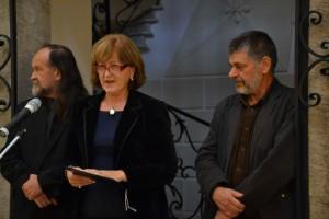 Oľga Lauková, Vladimír Valentík a Pavel Čáni otvárajú výstavu