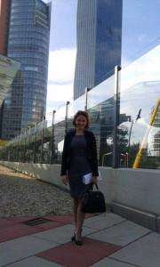 Jelena V. Jonovska pred početak konferencije (Foto: arhiva J.V.J.)