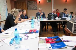 Študenti a študentky na pôde Delegácie EÚ v Moldavsku
