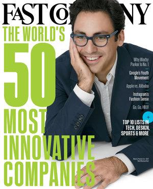 Jedna z titulných strán magazínu Fast Company