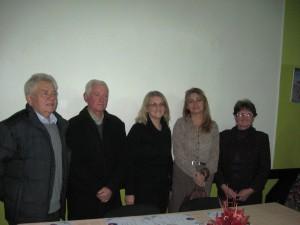Aradáčsky MOMS počas 25 rokov viedli týmto poradím Pavel Jánovský, Juraj Čeman, Zuzana Litavská Beňová, Erka Viliačiková a aktuálnou predsedníčkou je Anna Bagľašová (z ľava)