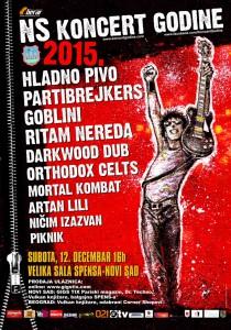 Koncert Godine 2015 - Plakat