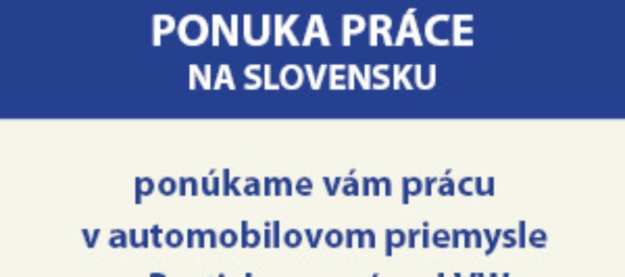 Ponúkame vám prácu vautomobilovom priemysle vBratislave – závod VW