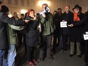 Protest v Novom Sade (Foto: Vanja Đurićová)