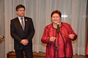 Hostiteľka veľvyslankyňa Dagmar Repčeková