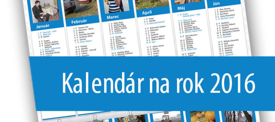 Kalendár na rok 2016