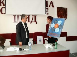 Predseda Obce Šíd Nikola Vasić a predsedníčka NRSNM Anna Tomanová Makanová (Foto: S. Stupavský)