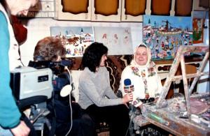 Zuzana Chalupová počas interview pre slovenskú redakciu TV Pančevo začiatkom januára 2000 (Foto: J. Špringeľ)