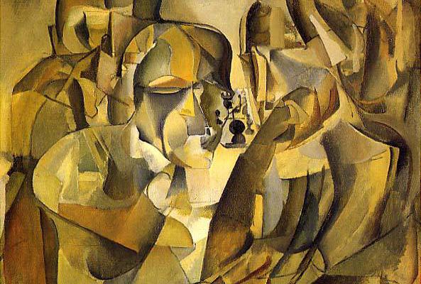 Marcel Duchamp: Portrét šachistov (Zdroj: www.galleryintell.com)