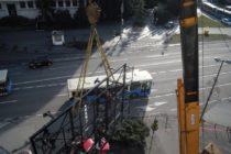 Odstránili spornú konštrukciu z budovy RTV