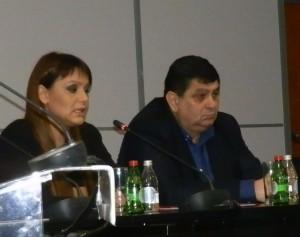 Tamara Jurenićová a Đorđe Radinović počas príhovorov