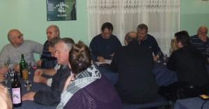 Výročná a volebná schôdza v miestnostiach rybárskej chatky