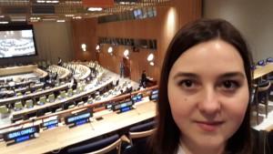 Martina Vitézová v sídle Spojených národov