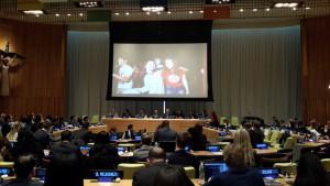Clenka nasej YMCA, Ivana Ilic na videu v UN