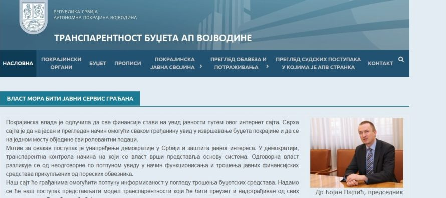 Transparentnosť rozpočtu AP Vojvodiny