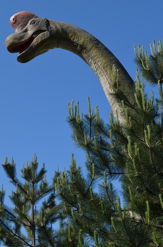 Brahiosaurus - jeden z najvyšších a najväčších dinosaurov