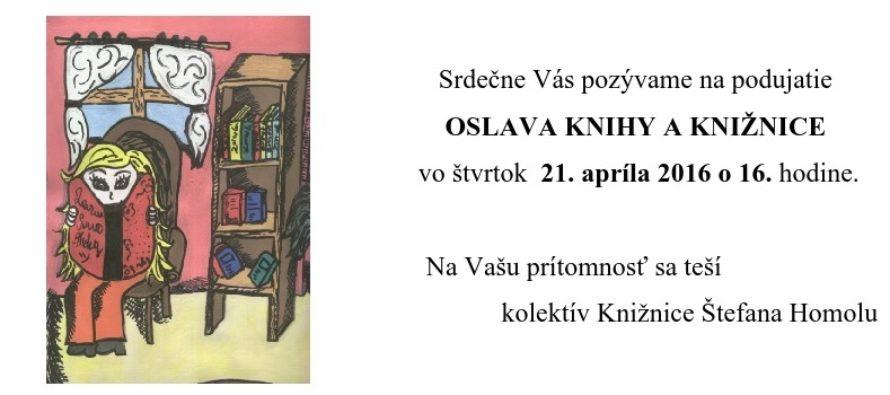 Oslava knihy a knižnice
